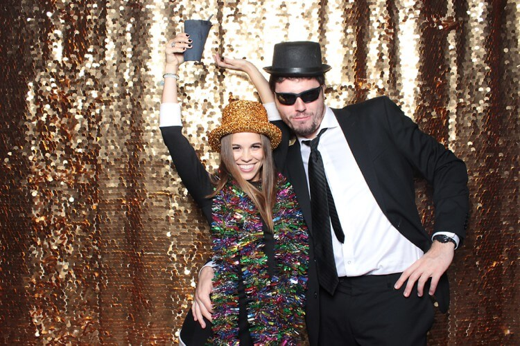 gold sequin photo booth backdrop Drop it Modern